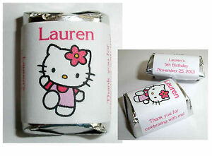 120-HELLO-KITTY-BIRTHDAY-PARTY-CANDY-WRAPPERS-LABELS-FAVORS