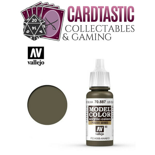 Vallejo Model Color Paint 17mL US Olive Drab 70.887