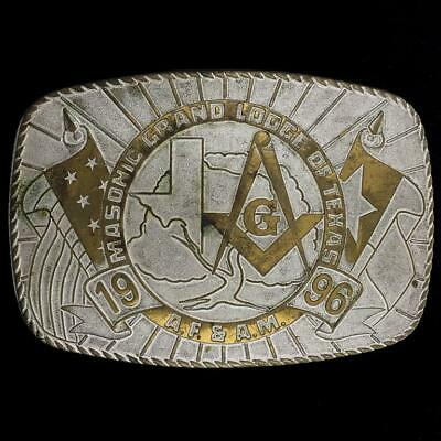 Contemplativo Vintage Massonico Grand Lodge Of Texas A. S. & A. M.1996 Muratore Massoneria