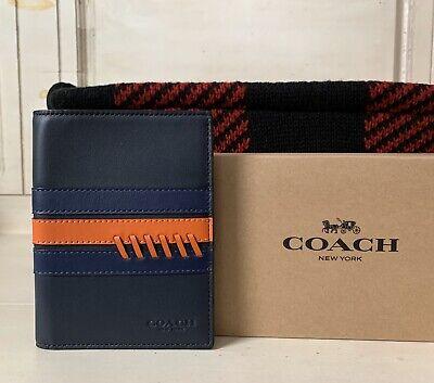 New Coach F26074 Passport Case Leather Interior
