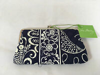 Vera Bradley Clutch Wallet In Twirly Birds Navy