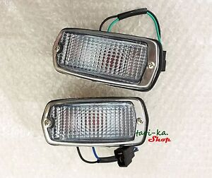 DATSUN 510 240Z 260Z 280Z 120Y B210 Side Marker LIGHT Lamps RED+CLEAR