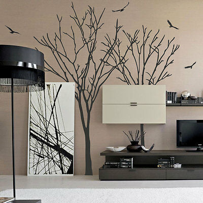 Birds Tree Wall Stickers Wall Decals Wall Arts Wall Decorations