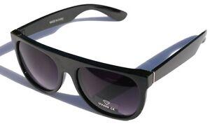 Large-Black-flat-top-Retro-SUNGLASSES-gradient-lens-80-039-s-vintage
