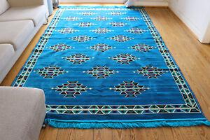200x300-cm-Bleu-TAPIS-Tapis-Kelim-Tapis-damaskunst-rug-S-1-6-94