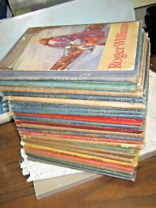 Lot-of-23-Row-Peterson-amp-Company-Unitext-BOOKS-1950-REAL-PEOPLE-Historical-D9