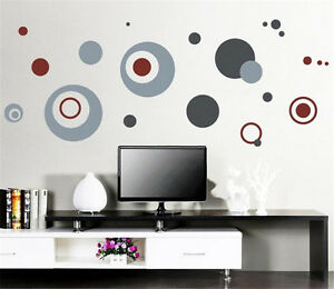 Gray-dot-Home-Decor-Removable-Wall-Stickers-Decal-Decoration-Vinyl-Mural