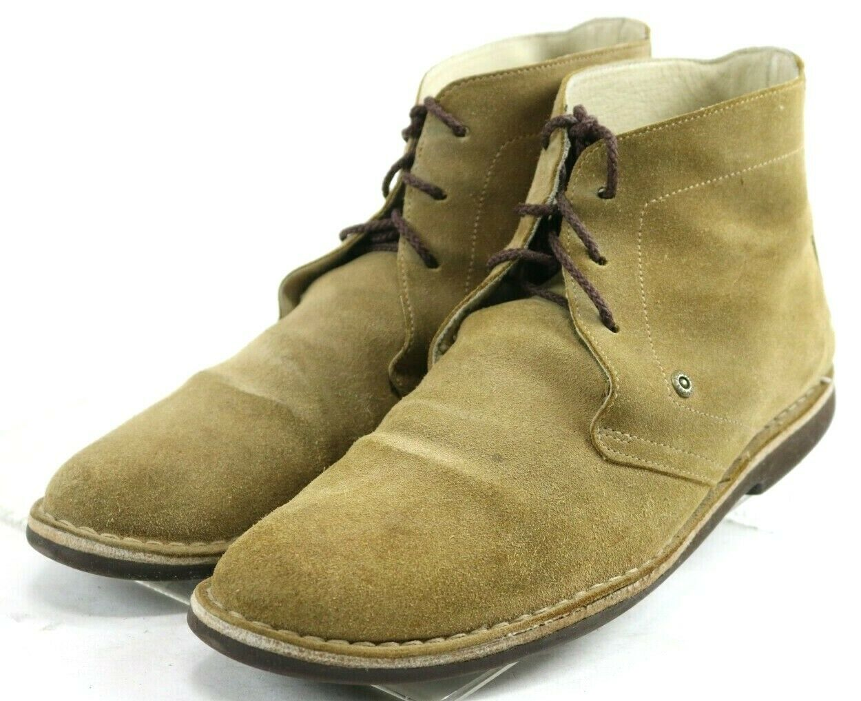 J. shoes Mistral  160 Men's Lace-Up Desert Boots Size 10.5 Suede Leather Brown