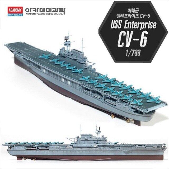 Akademin 1  700 USS Enterprise CV -6 flygagagplan bilrier modelllllerlerl