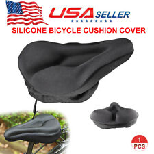Bike Bicycle GEL Cushion Extra Comfort Sporty Wide Big Soft Pad Seat Cover Black