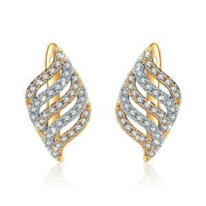 18k-yellow-white-gold-gf-2-tone-huggies-made-with-Swarovski-crystal-earrings