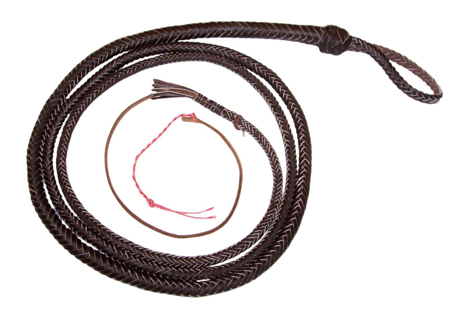 8 pies 12 Trenzas Marrón Oscuro Cuero Real De Serpiente Látigo Látigo de toros látigo Toro