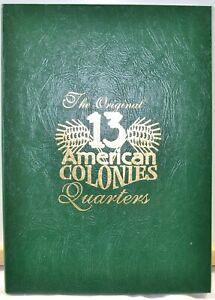 Original-13-American-Colonies-Quarters-Littleton-New-Custom-Coin-Folder-25c