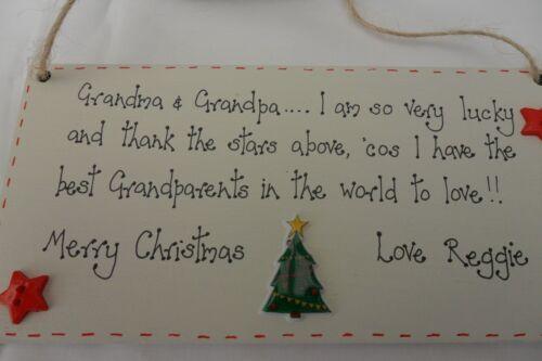 Mobel Wohnen Nanny Personalised Grandparents Christmas Plaque Present Gift Keepsake Granny Maybrands Com Ng