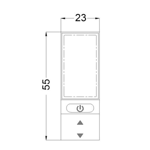 KT display 24V//36V//48V KT LCD4 mini display Ebike display KT display KTLCD4