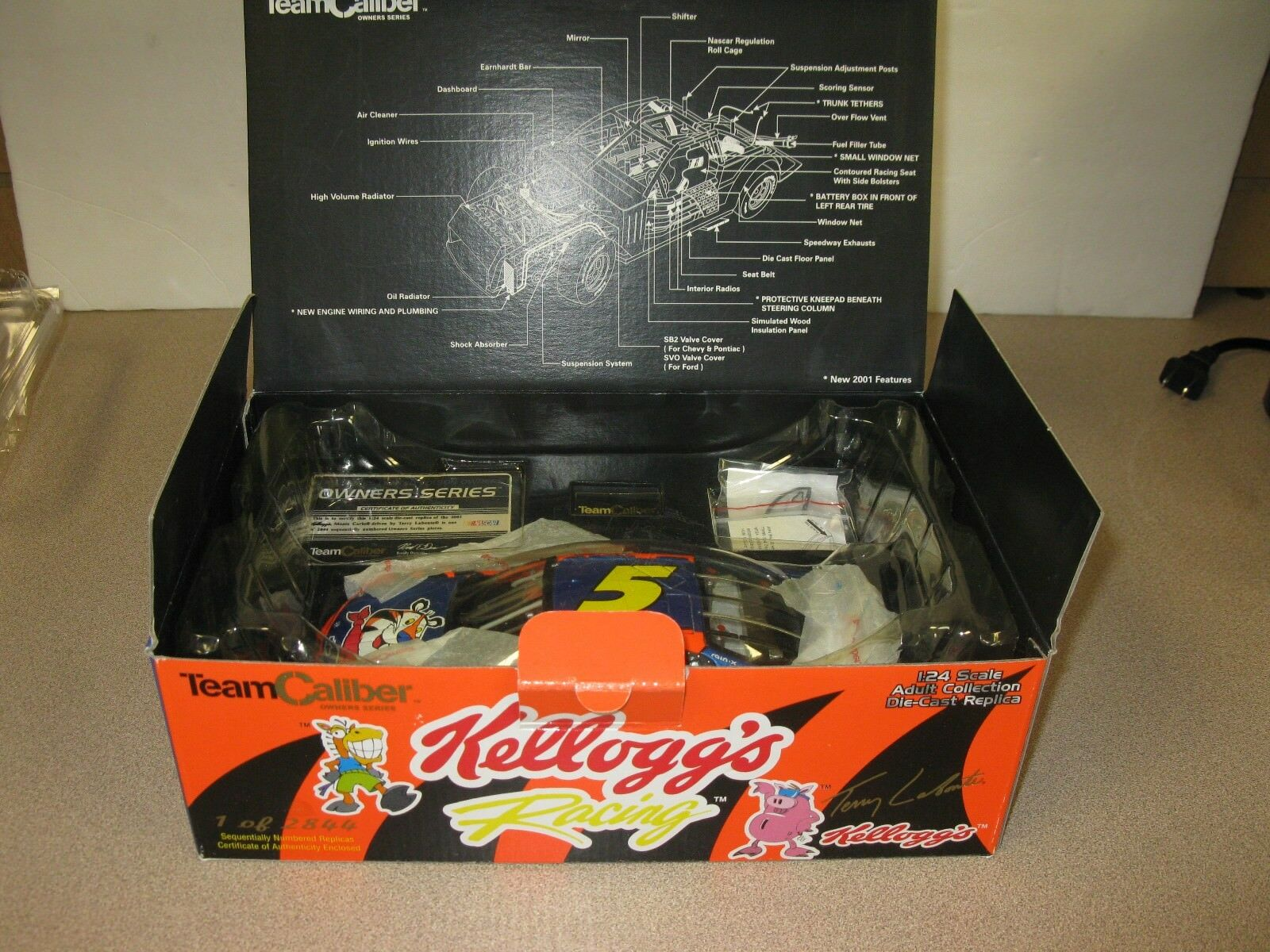 TERRY LABONTE KELLOGG'S TONY THE TIGER  1 24 T C  OWNERS SERIES