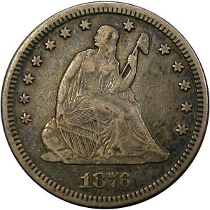 1876-1876-25C-PCGS-VF35-MISPLACED-DATE-034-MPD-FS-305-034-SEATED-RARE-ONLY-5-GRADED