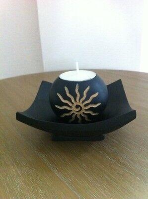 Set Of Mango Wood Tealight Candle Holder Handmade Ebay