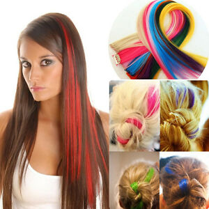 Clip in on colorful hair piece synthetic straight hair extensions image is loading clip in on colorful hair piece synthetic straight pmusecretfo Choice Image