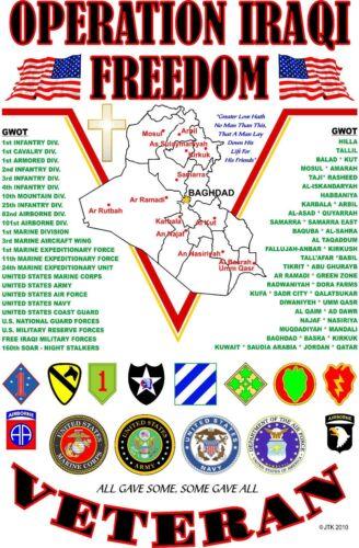 U.S.NAVY FREEDOM /& OPERATION IRAQI FREEDOM VETERAN CAMPAIGN  2-SIDED SHIRT