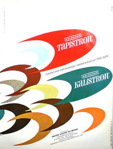 WELDWOOD-KALISTRON-Wall-Covering-US-Plywood-Catalog-ASBESTOS-CEMENT-BOARD-1964