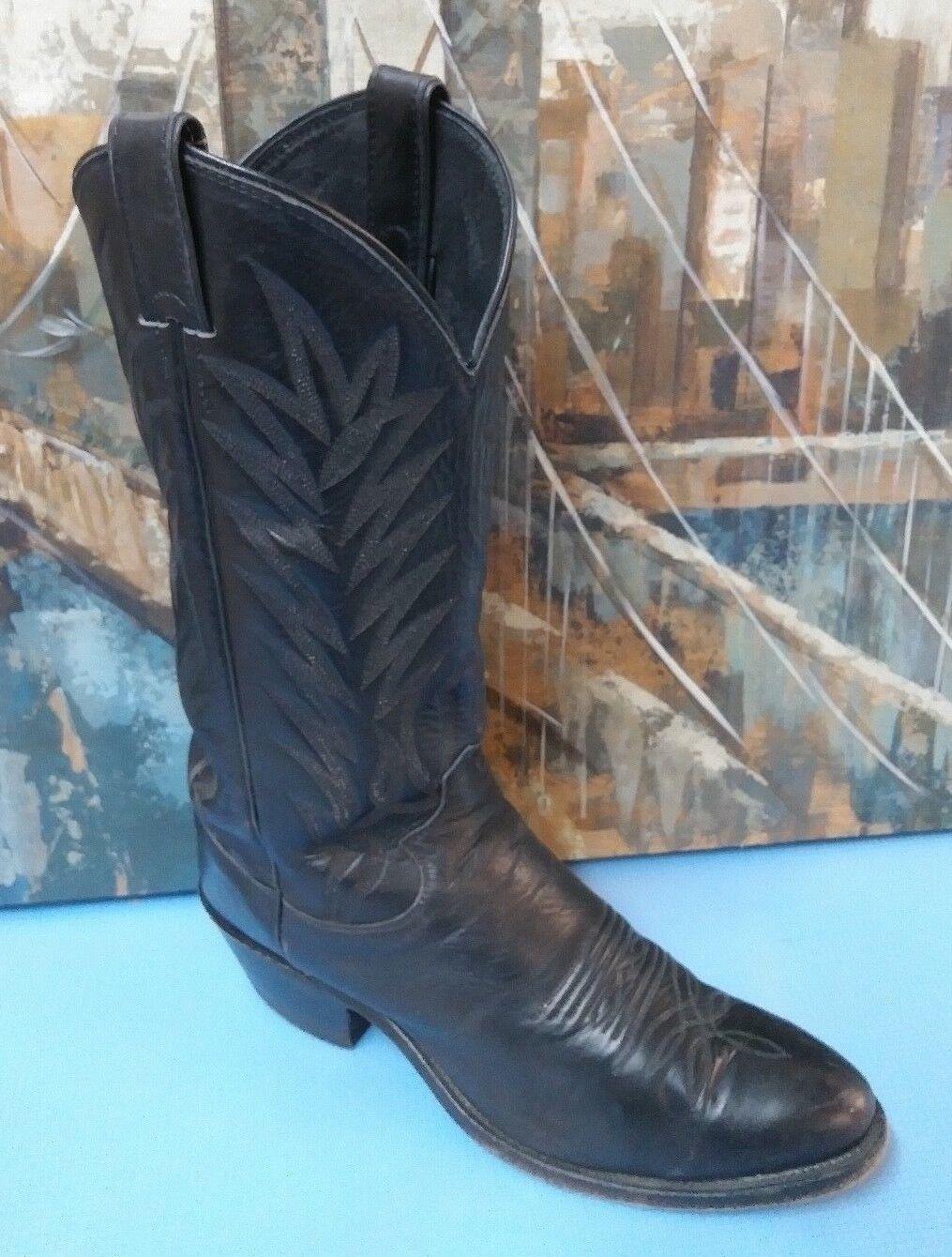 Justin J41924 Men's Cowboy Boots, size 8 D  Black