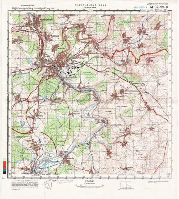 Russian Soviet Military Topographic Map Albertville France 1