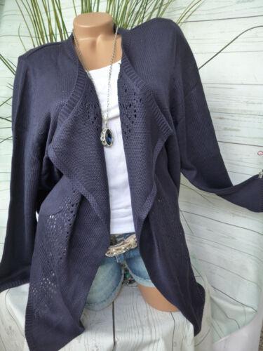 NUOVO Sheego Cardigan maglia giacca 48//50 bel tono BLU 566