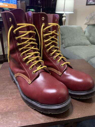 Solovair Southerner Steel Toe Derby Boots Oxblood