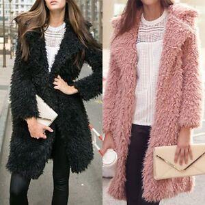 Women-Winter-Parka-Faux-Fur-Long-Sleeve-Jacket-Coat-Outwear-Overcoat-Top-AU