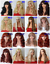 140-Styles-Black-Red-Brown-Blonde-Long-Curly-Straight-Wavy-Ladies-Fashion-Wigs thumbnail 5