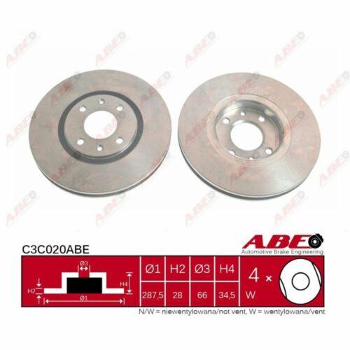 1 Stück ABE C3C020ABE Bremsscheibe