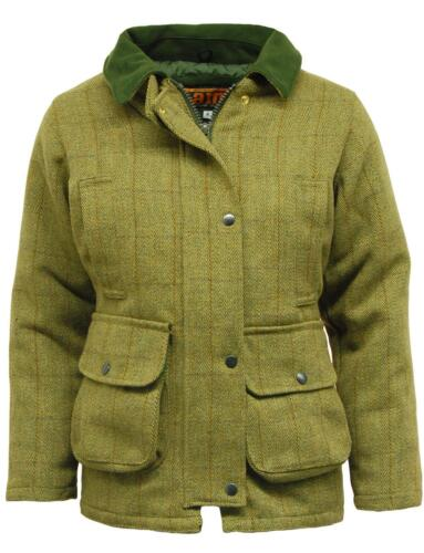 New Women/'s Waterproof Tweed Country wear Jacket Coat