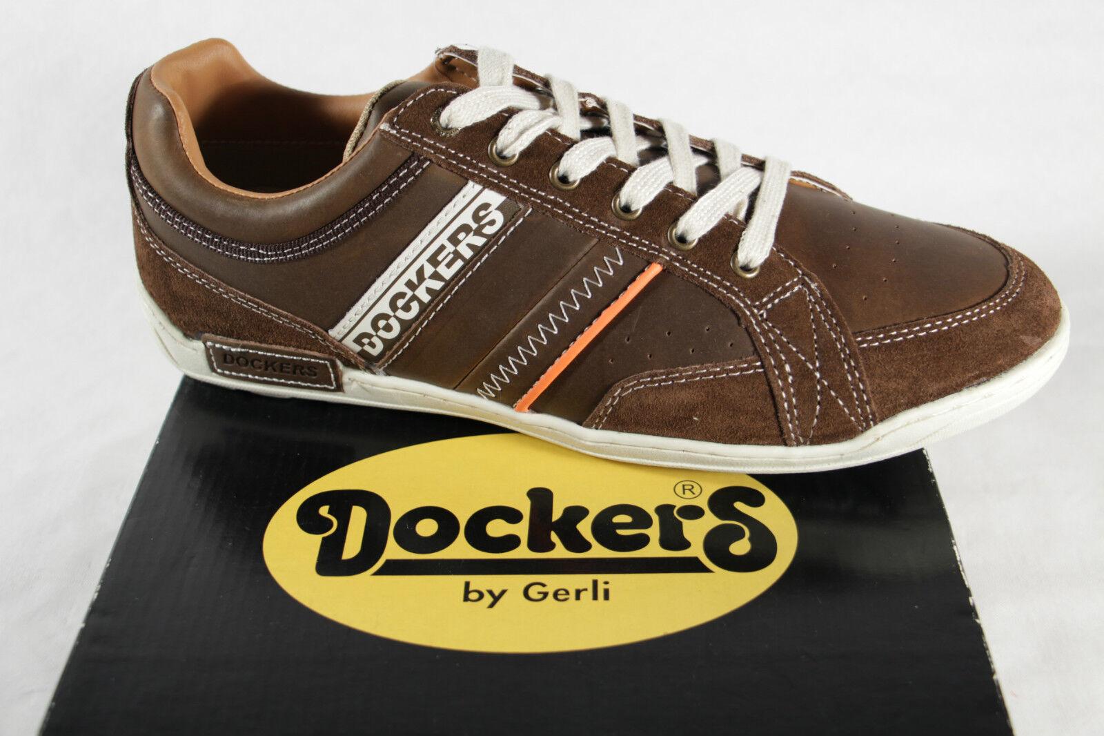 Dockers Hombre Cordones,Marrón,para Suelto Apto Plantillas,Piel,32CE016 ¡Nuevo