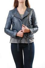 Denham Women's Warlock LL Leather Jacket Indigo Size M BCF511