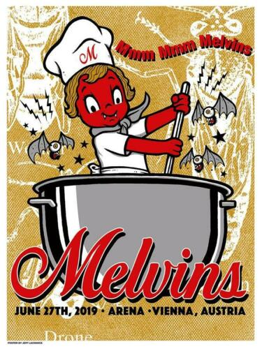 MELVINS Vienna 2019 silkscreened poster by Jeff LaChance