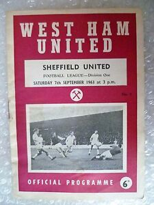 1963-WEST-HAM-UNITED-v-SHEFFIELD-UNITED-7th-Sept-League-Division-One
