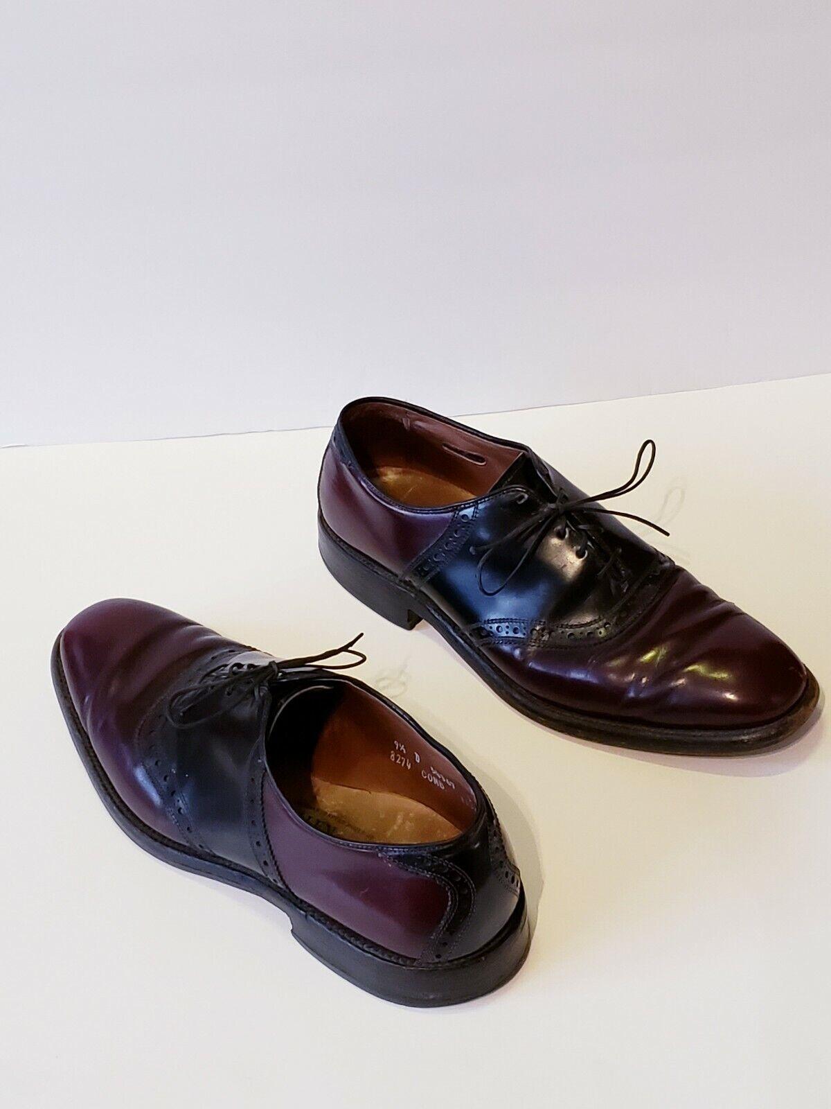 ALLEN EDMONDS Danbury Plain Toe marron Cuir Noir Oxford   Chaussure Taille 9.5 D
