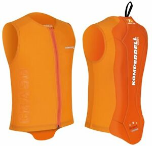 Komperdell Eco Junior Protector Vest Ski Snowboard Rückenprotektor orange