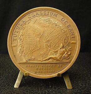 Medal-Plan-of-Port-of-Brest-Bresti-Portus-F-Barnes-Artist-de-La-Navy-Medal