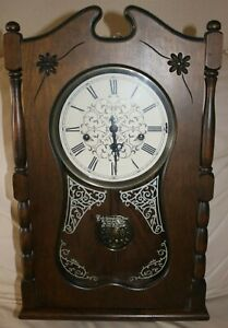 Vintage Ansonia Ezee Set 735 Chime Automatic Wall Clock