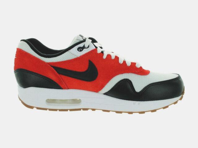 bed23b48e8 Original Nike Air Max 1 Essential White Black Gamma Orange Trainers  537383122