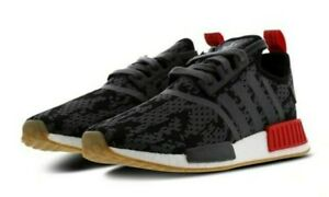 Adidas Nmd R1 Cg6666 Black Red Gum Foot Locker Men Running Shoes