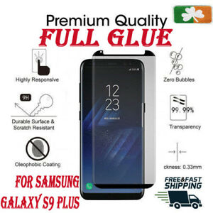 huge discount 37b4e 5c1c1 Details about Samsung Galaxy S9 Plus CASE FRIENDLY 4D Clear HD Tempered  Glass Screen Protector