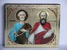 Apostels Peter and Paul consecrated wood апостолы Петр и Павел 10x12x1,8 cm