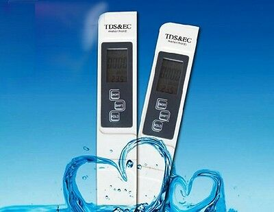 Digital TDS EC Meter Cond Tester Conductivity Pen Water Quality Purity Filter