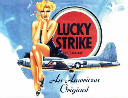 Lucky strike an american original retro vintage style metal wall plaque sign