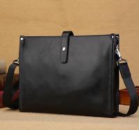 New Men Business Briefcase Genuine Leather Handbag Shoulder Messenger Laptop Bag