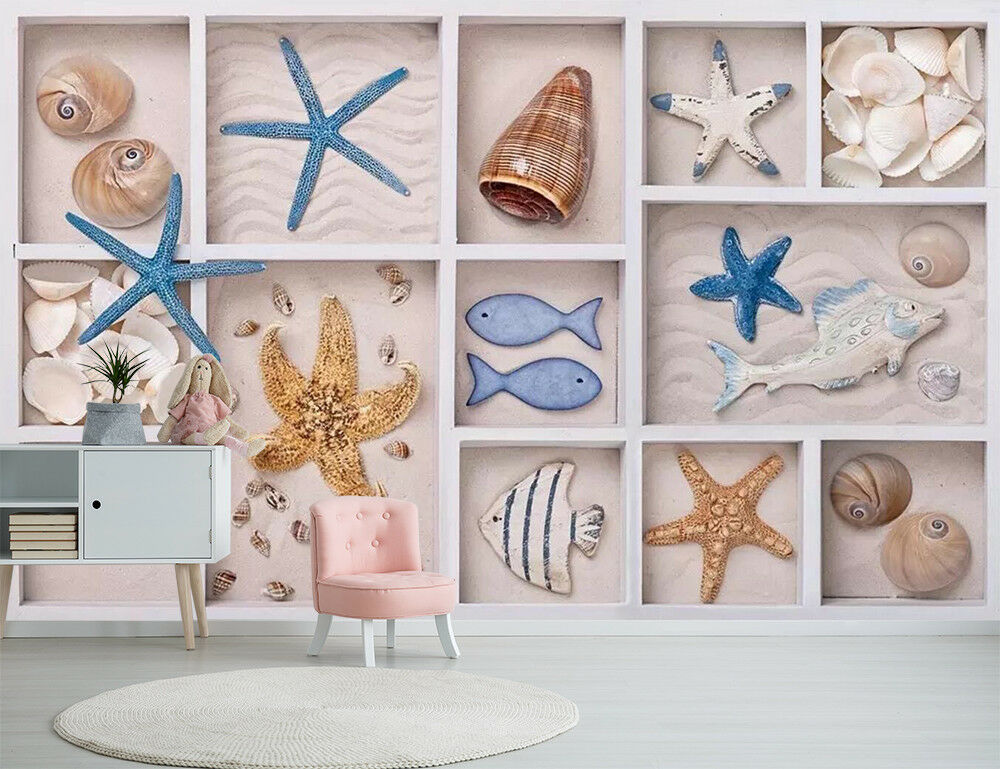 3D Cute Ocean Style 5 Wall Paper Exclusive MXY Wallpaper Mural Decal Indoor wall
