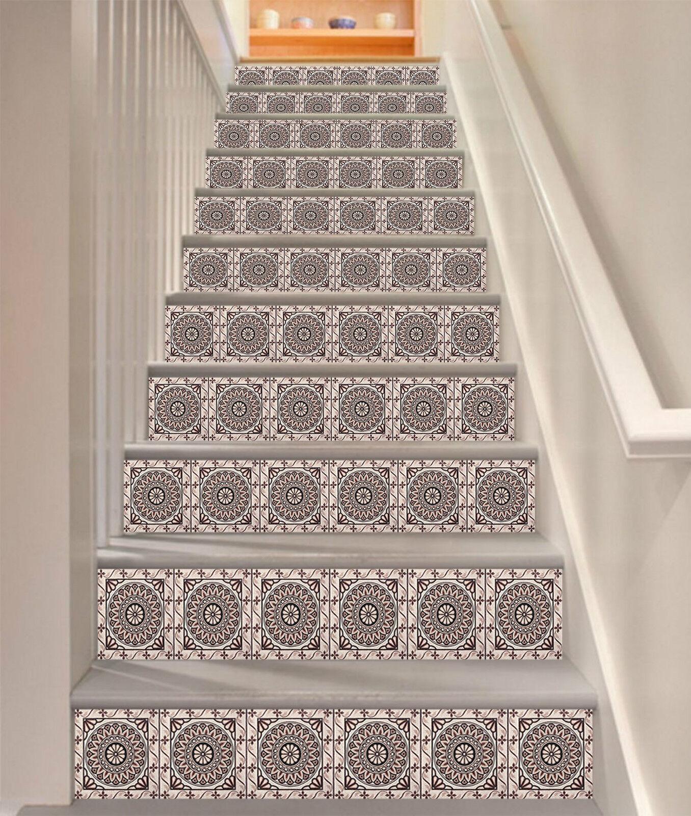 3D Textur 572 Stair Riser Dekoration Fototapete Vinyl Aufkleber Tapete DE Lemon
